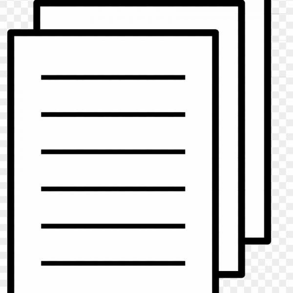 Paper clip art black. Essay clipart official document