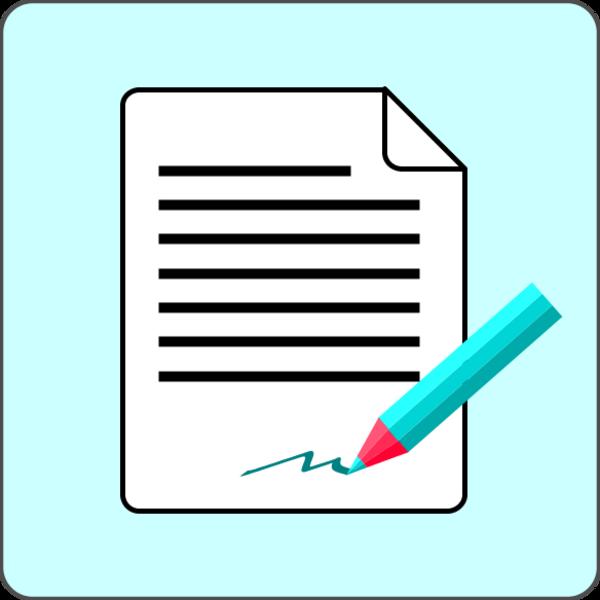 Signature panda free images. Document clipart paper