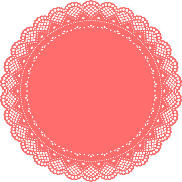 Free doily . Clipart paper dolly