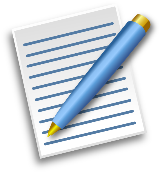 Document clipart school papers. Pen and paper