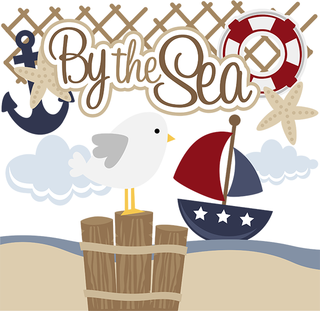 Scrapbook clipart nautical. By the sea svg
