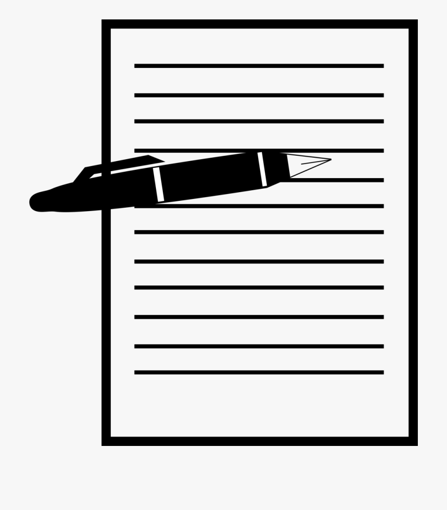 Paper and black . Clipart pen form