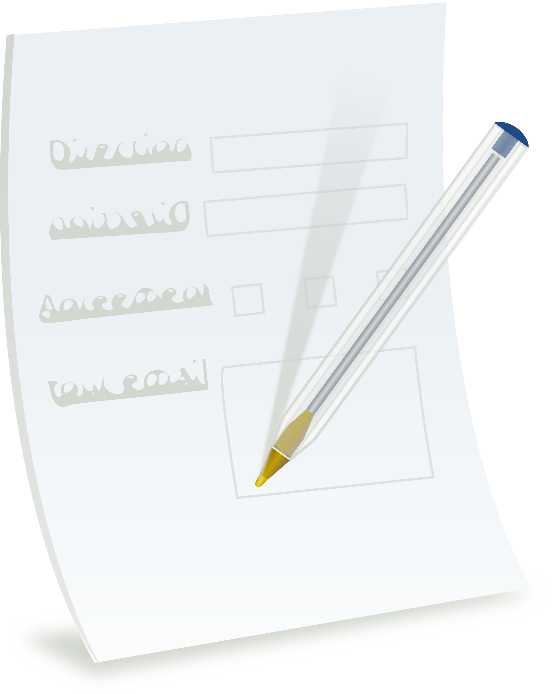 Clipart writing paper form. With ballpoint big image