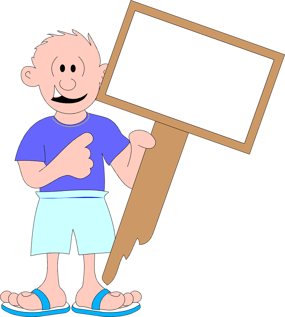 Sign blank free stock. Clipart paper hand holding