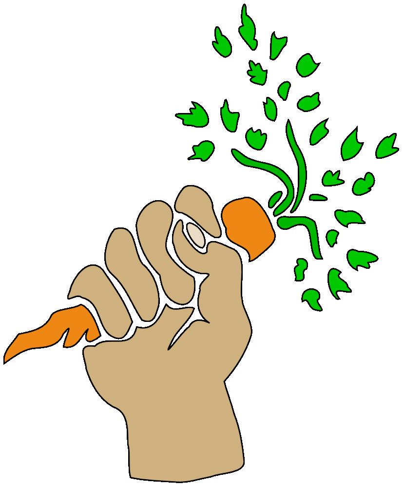 Clipart vegetables carrot. Onlinelabels clip art hand