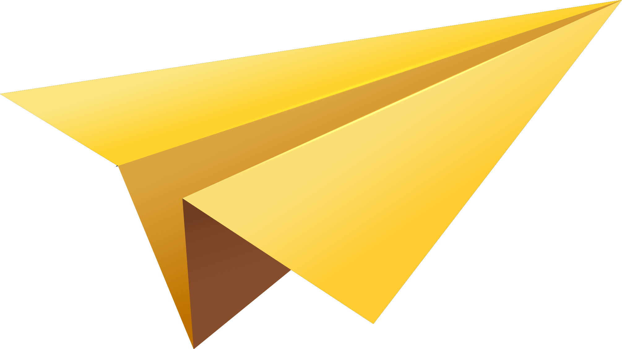 Paper clipart jet. Yellow plane png image