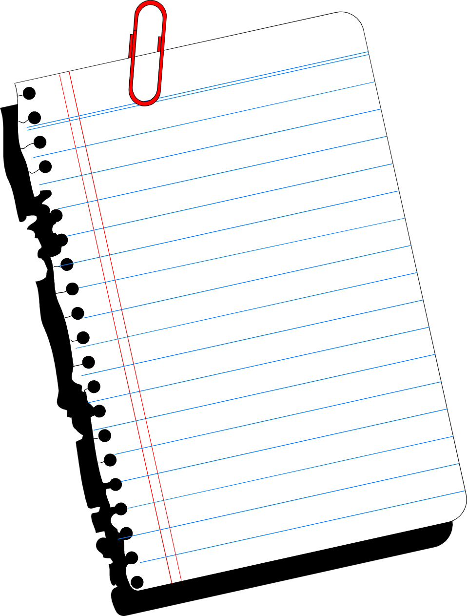 Clipart paper line paper. Ruled notebook printing and