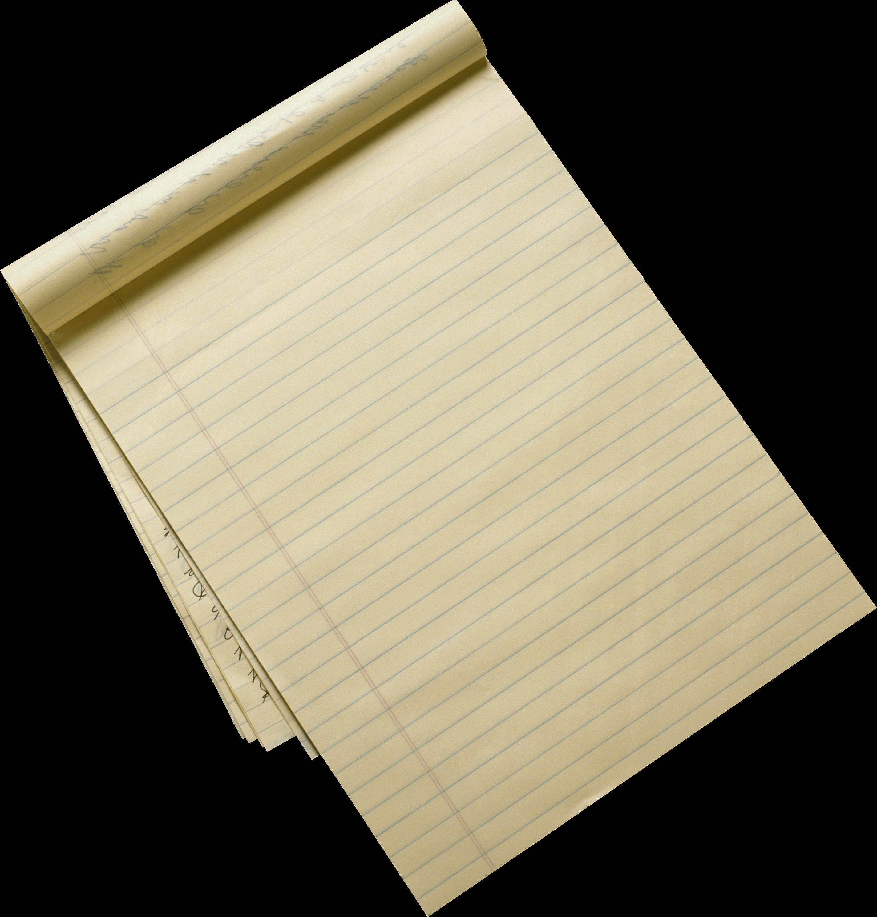 Pencil sheet transparent png. Paper clipart ruled paper