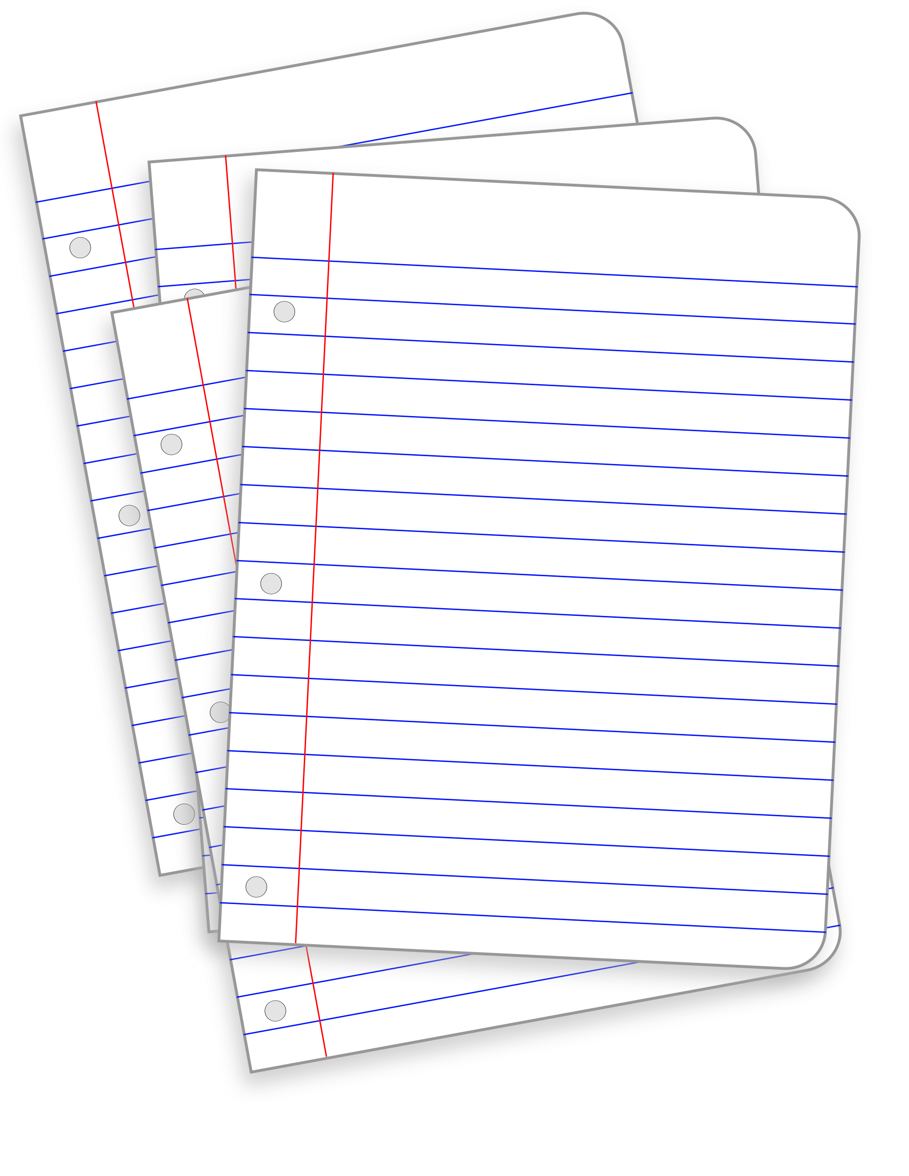 Messy lined papers big. Paper clipart line paper