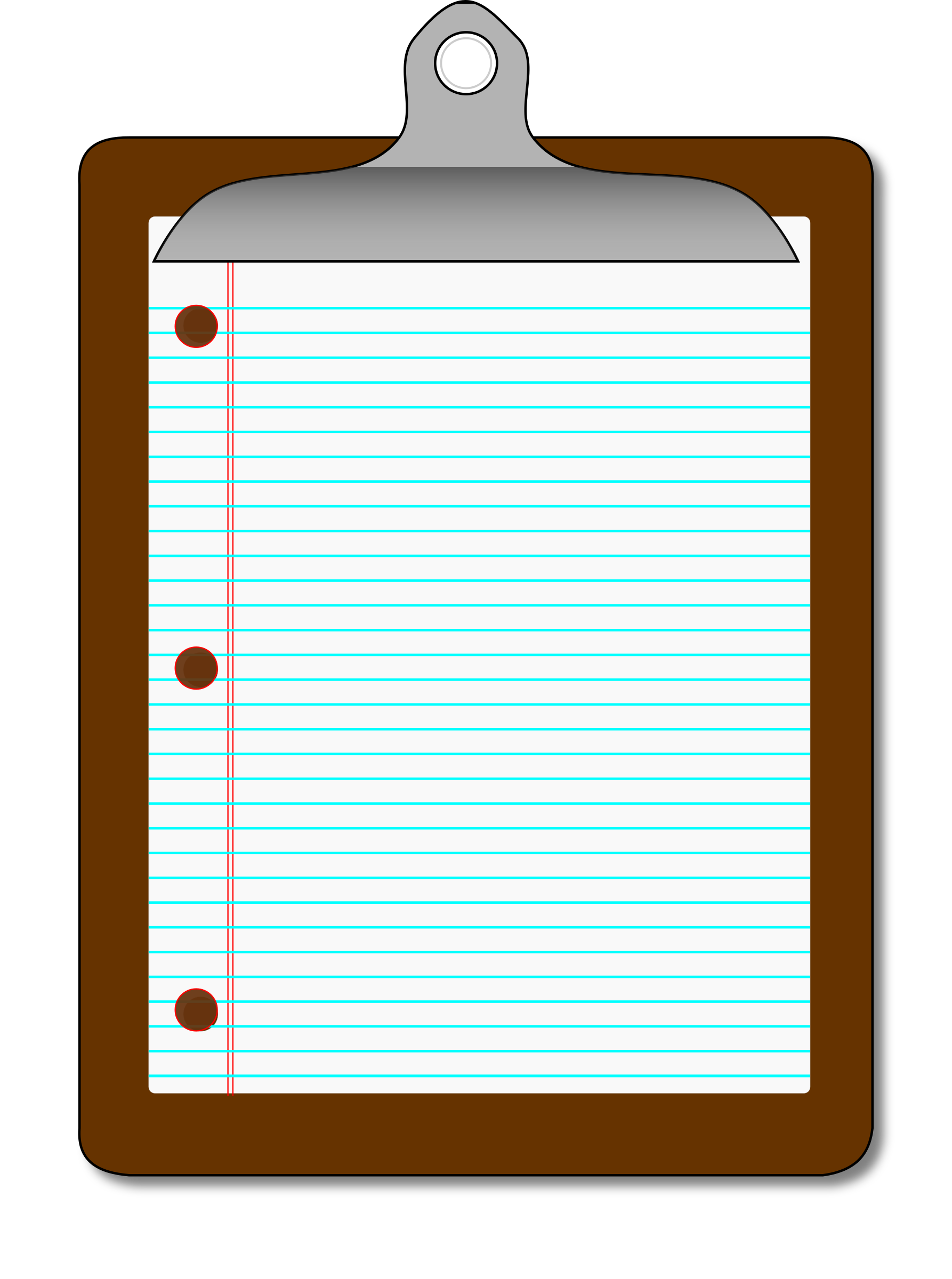 Clipboard lined big image. Paper clipart line paper