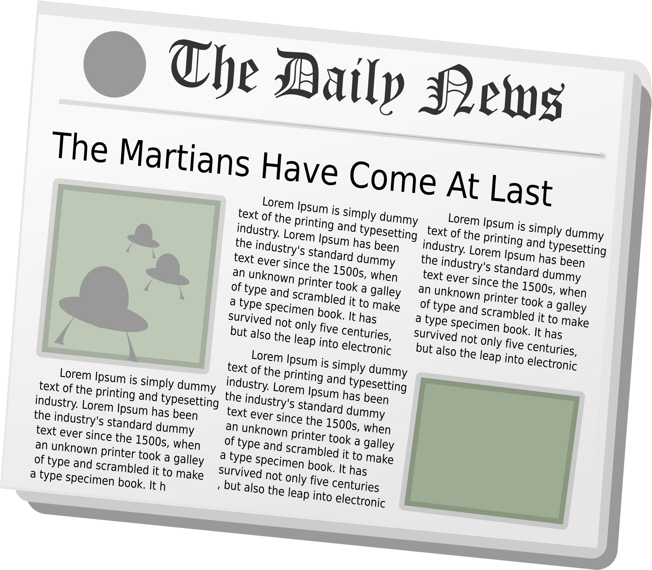Aliens big image png. Newspaper clipart daily news