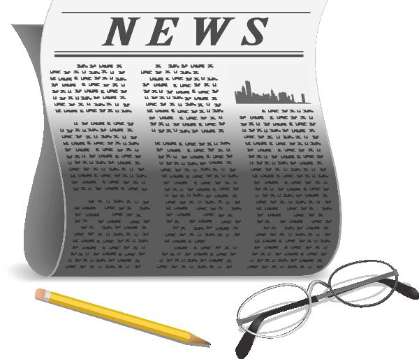 Newspaper clip art at. News clipart newpaper