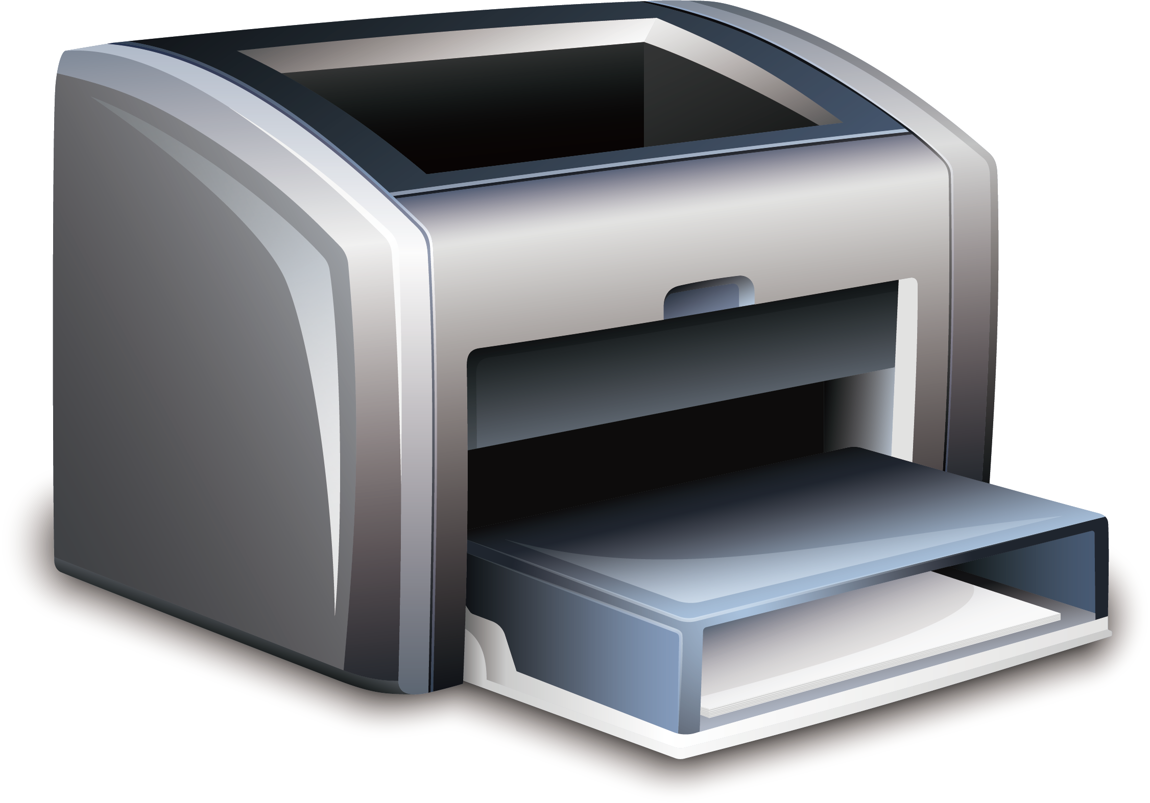 Paper printer laser printing. Electronics clipart office equipments