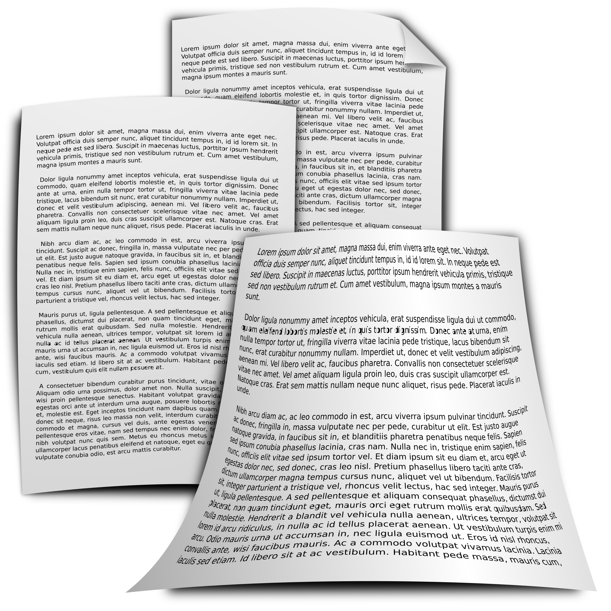 Paper clipart official document. Documents big image png