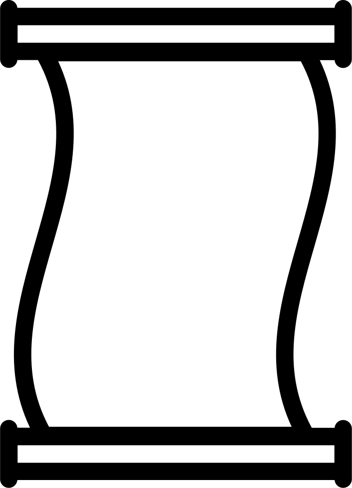 Scroll clipart ancient scroll. Paper outline svg png