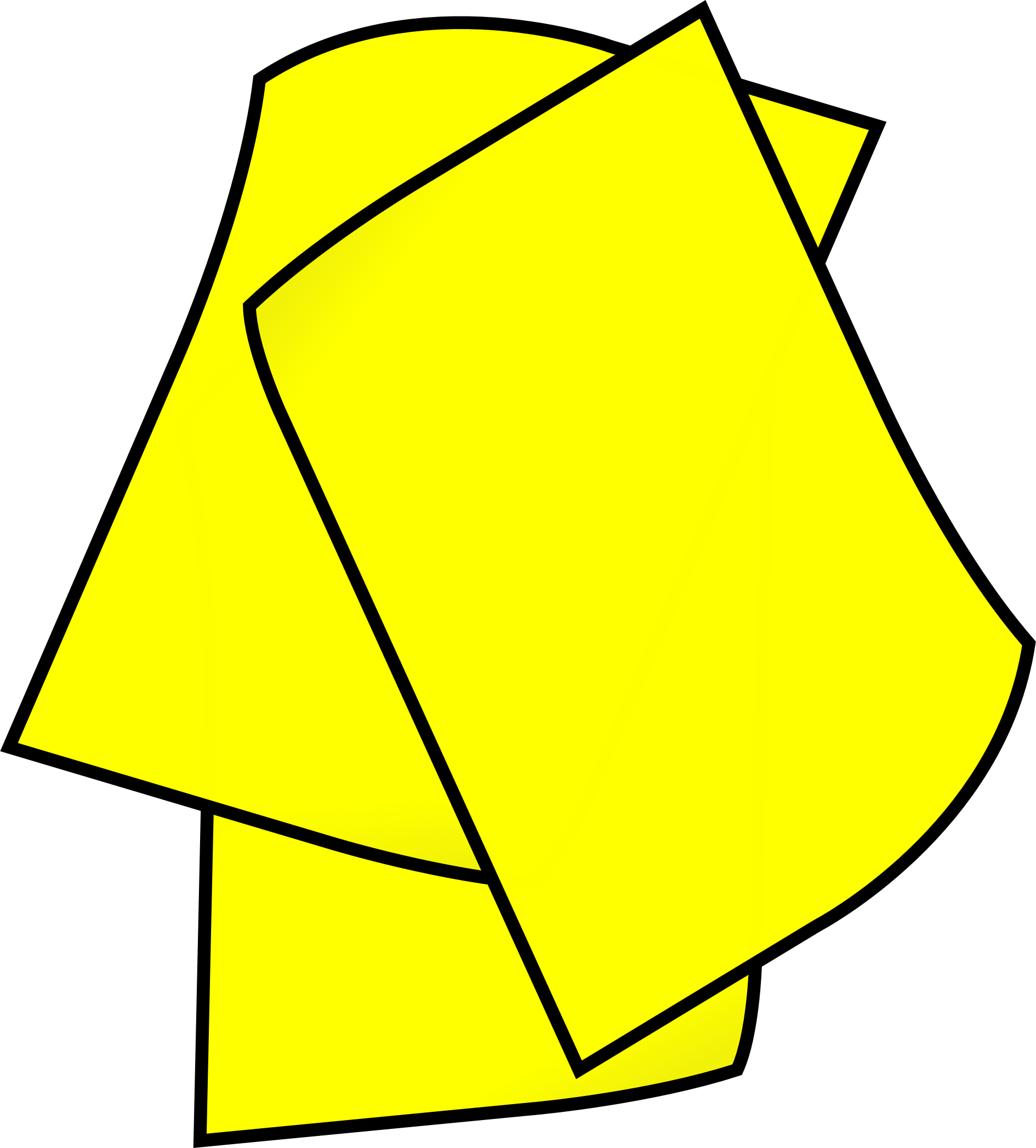Clipart paper paper pile. Stack of yellow big