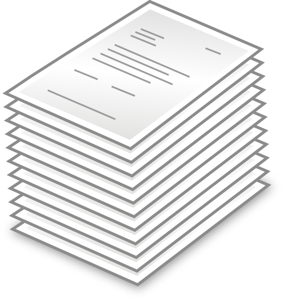 Mail clipart pile. Stack of letters clip