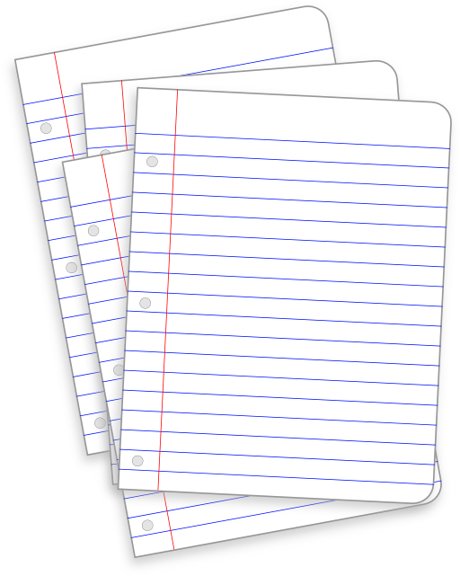 Document clipart pile document. Messy lined papers i