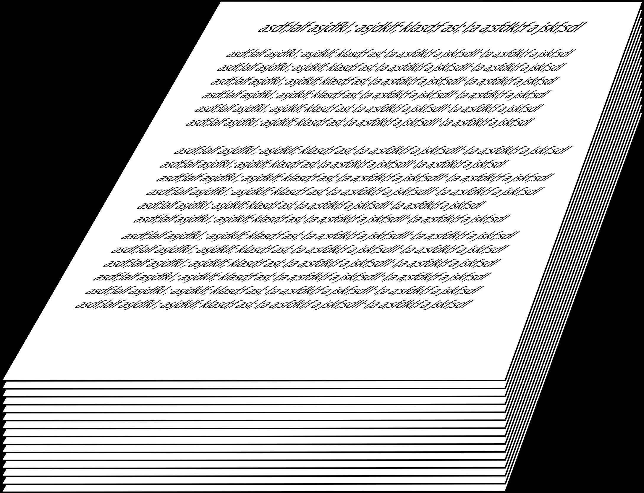Clipart paper paper pile. Manuscript manuscrit big image