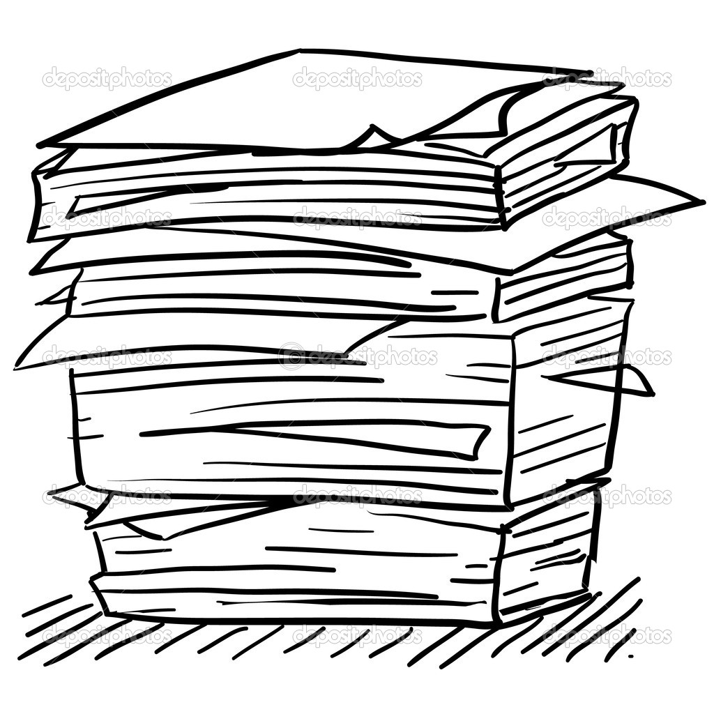 Stack of free download. Clipart paper paper pile