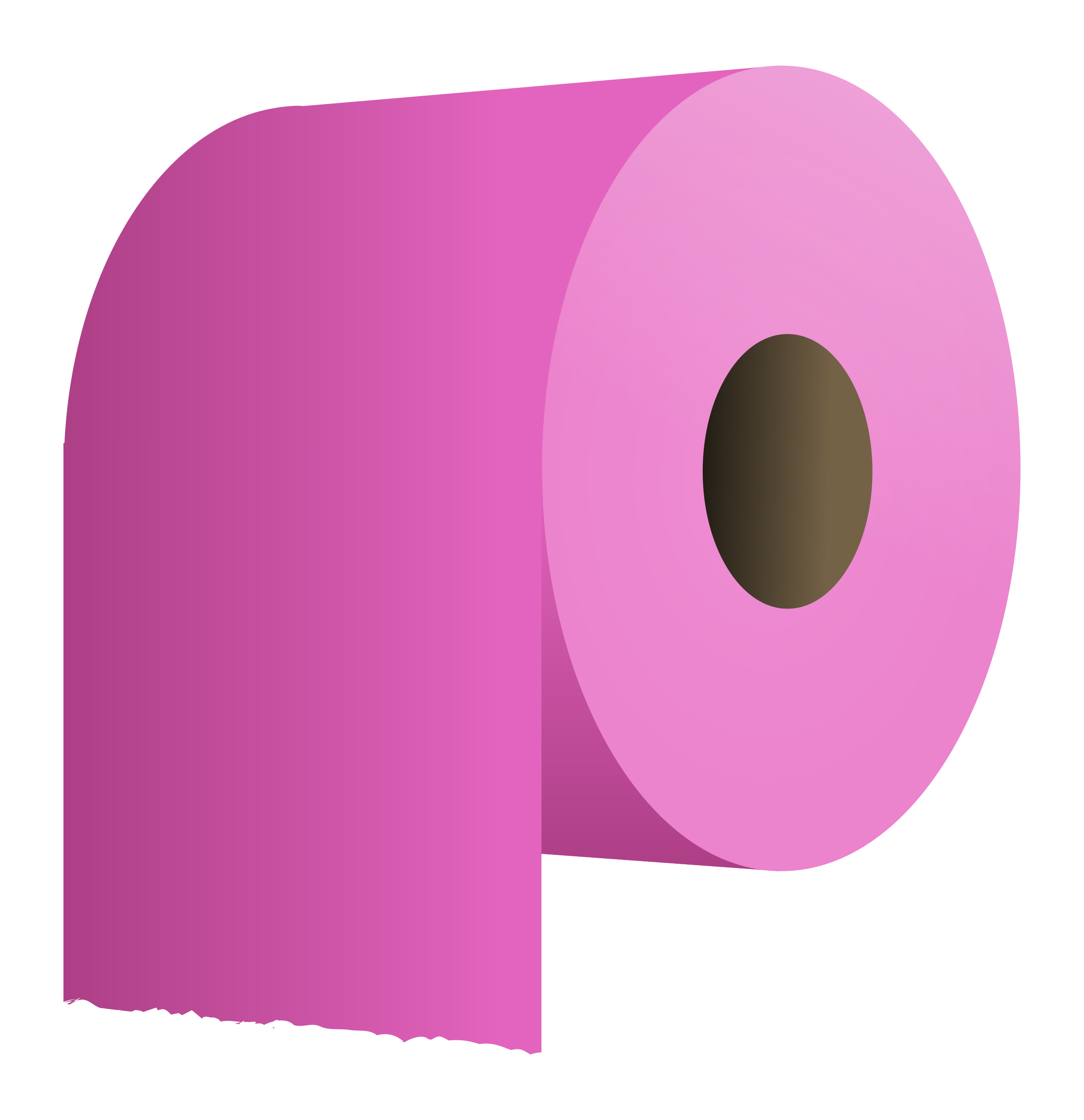 Toilet paper roll big. Clipart phone pink