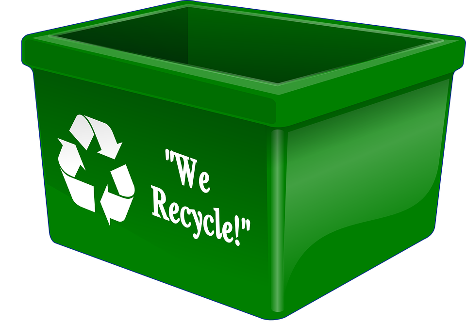 Recycling a psychological issue. Outline clipart bin