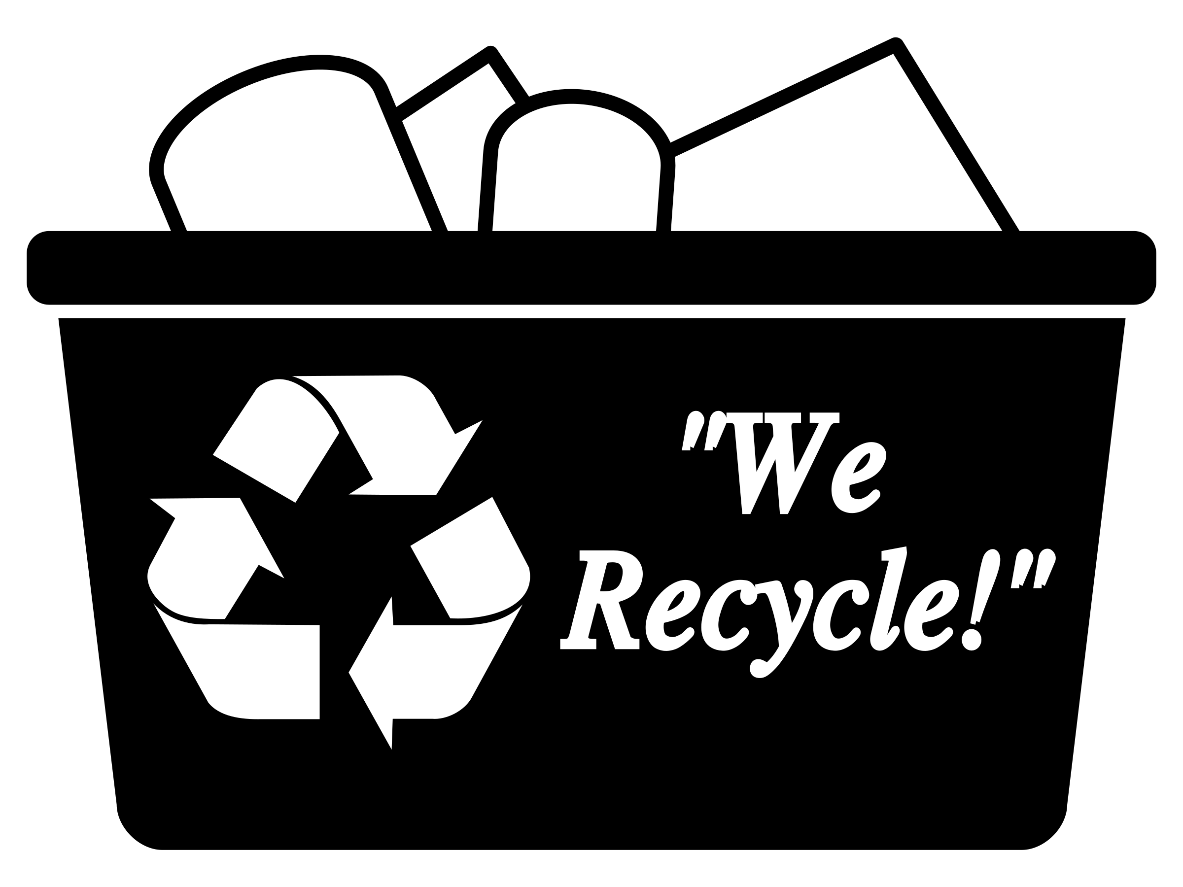 Recycling bin simple icons. Newspaper clipart recycled paper
