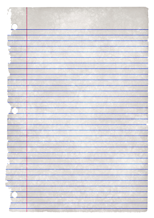Paper clipart binder paper. Ruled grunge png image