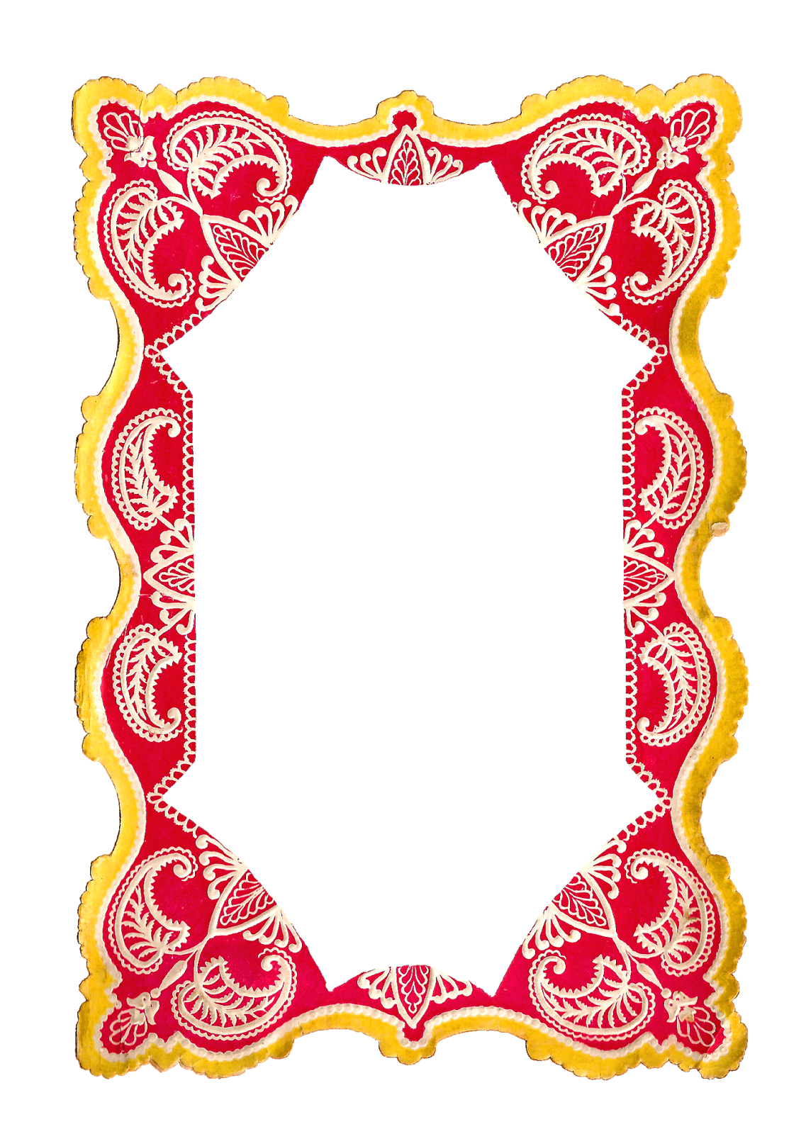 Antique images free digital. Paisley clipart boarder