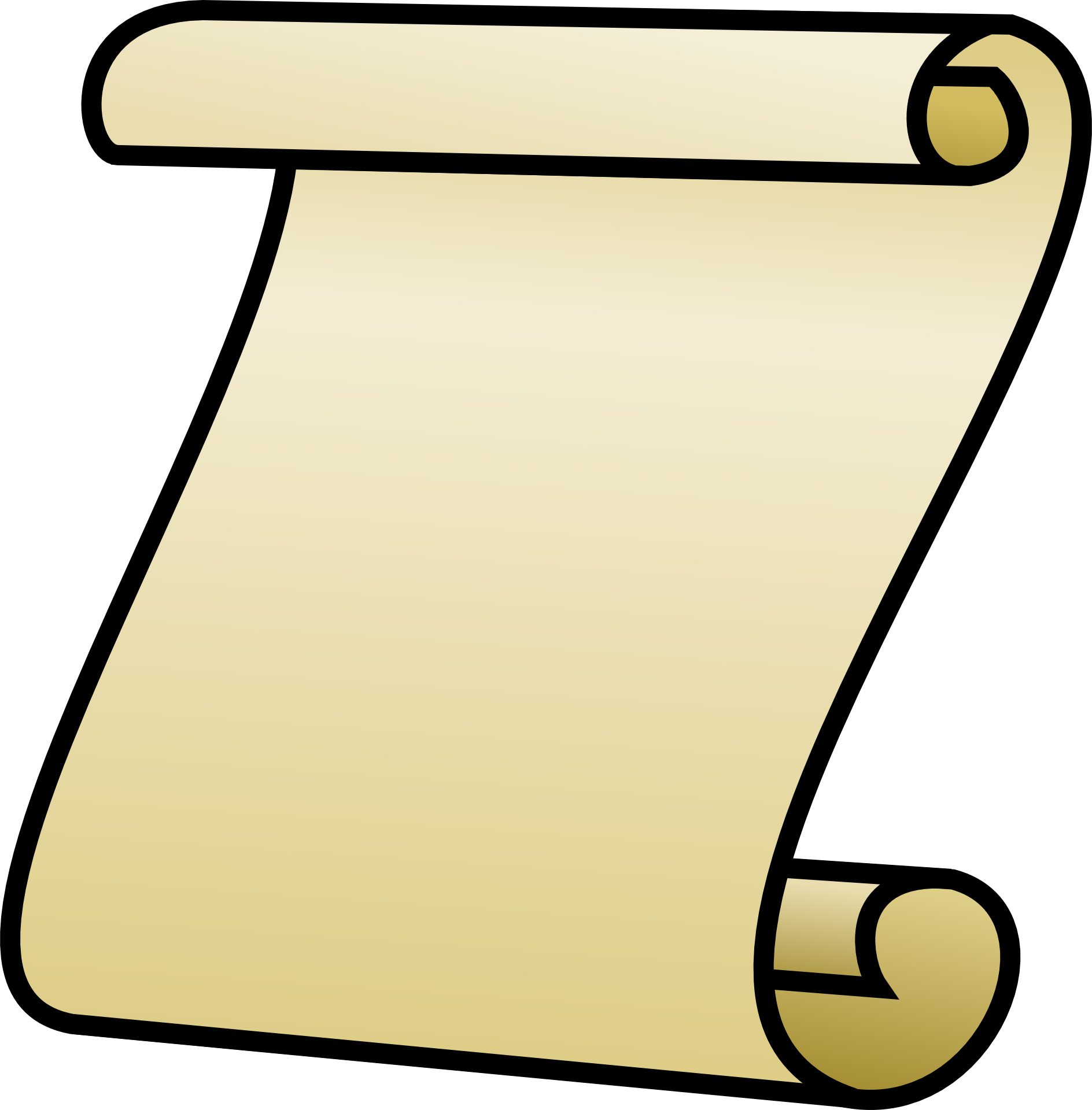 Scroll clipart vector. Free paper cliparts download