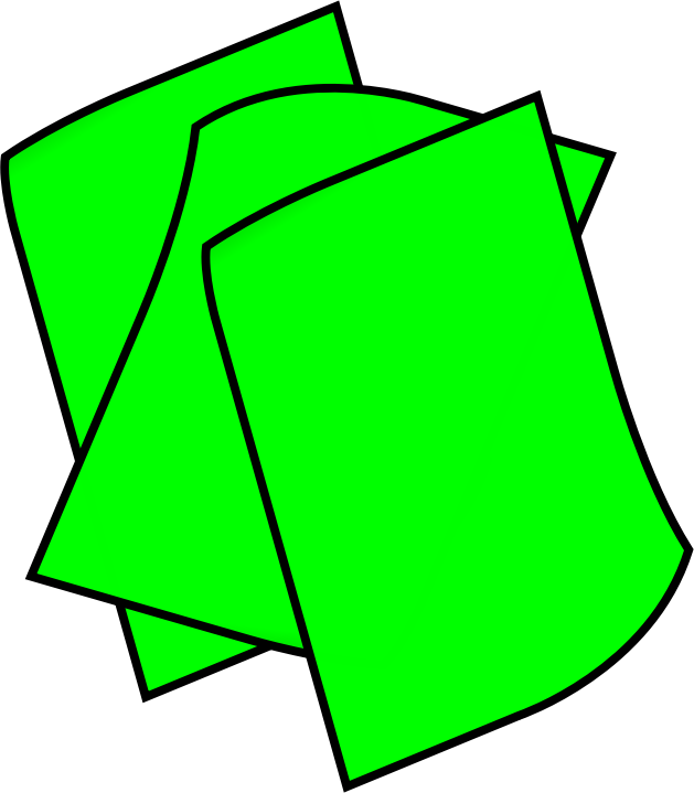Of green medium image. Clipart paper stack papers