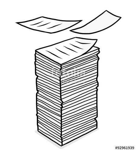 Of cartoon vector and. Clipart paper stack papers