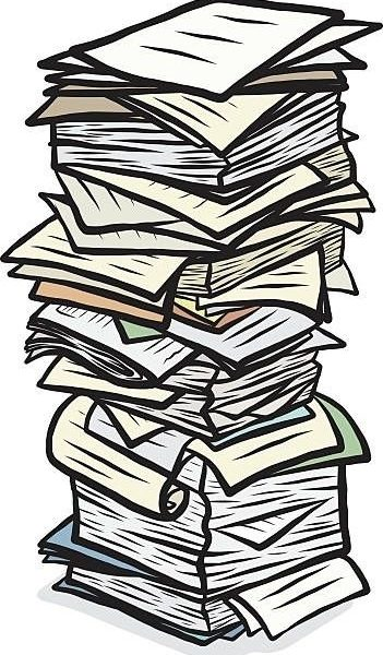 Paper clipart stack papers. Document graphics illustrations