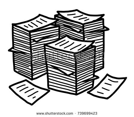Graphics illustrations free . Paper clipart stack papers