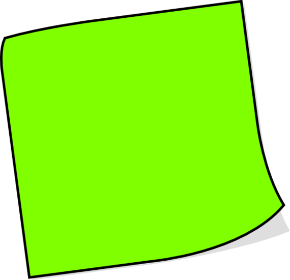 Paper clipart sticky note. Green notes png image