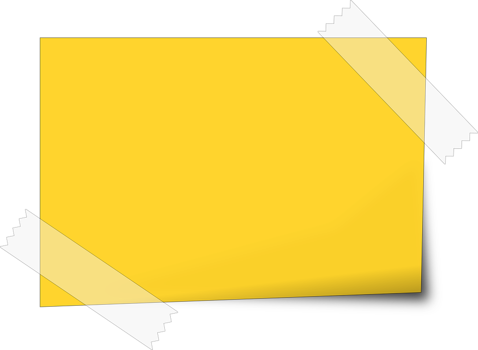 Paper clipart sticky note. Free image on pixabay