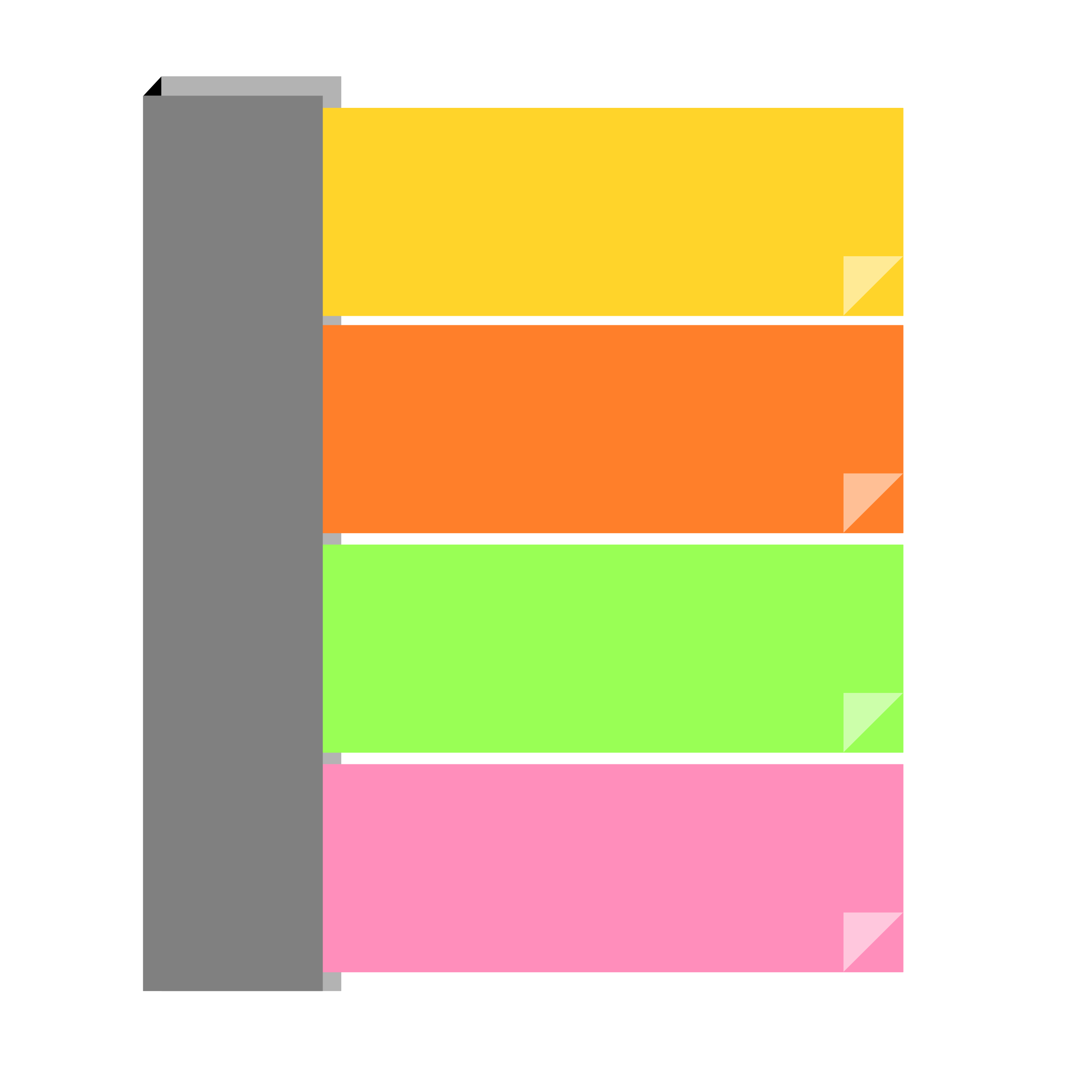 Paper clipart sticky note. Remixed notes assorted big