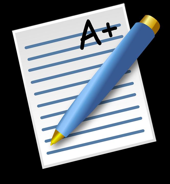 Being a good student. Clipart pencil math