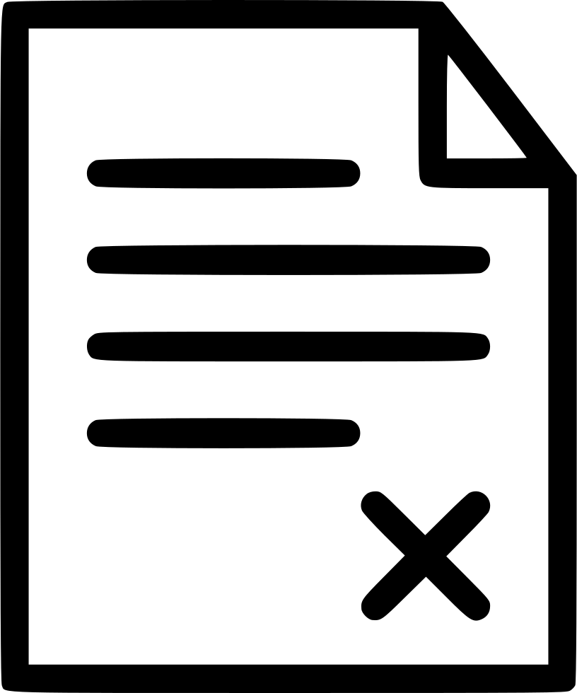 Document wrong exam paper. Clipart school icon