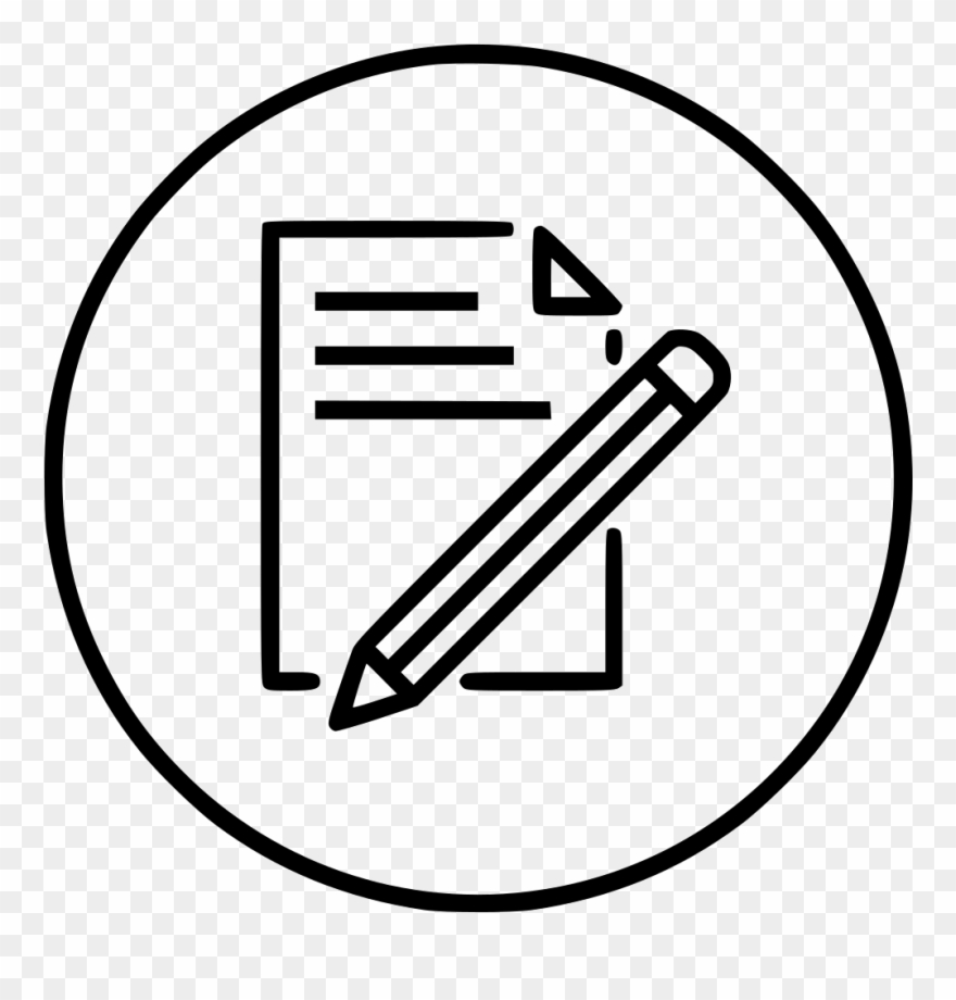 Document write pen and. Clipart paper typing a