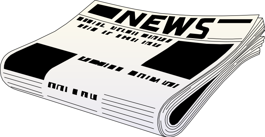 News clipart rolled newspaper. Paper pencil and in