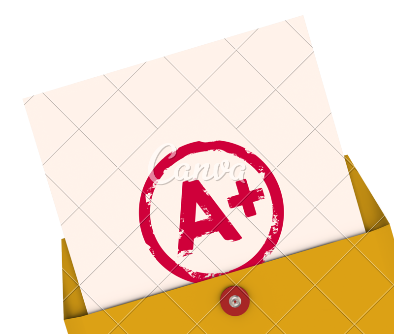 Report card a plus. Test clipart graded papers