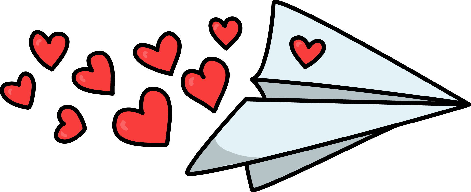 Clipart plane red. Free paper with hearts