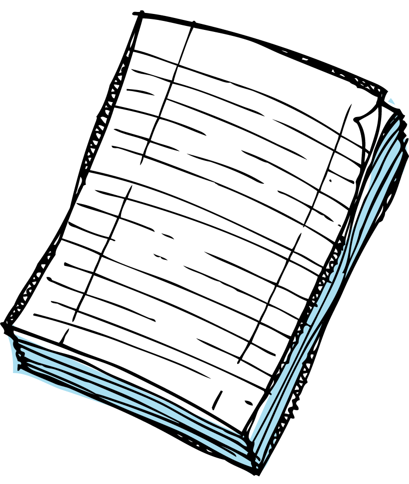 collection of writing. Paper clipart handwriting paper