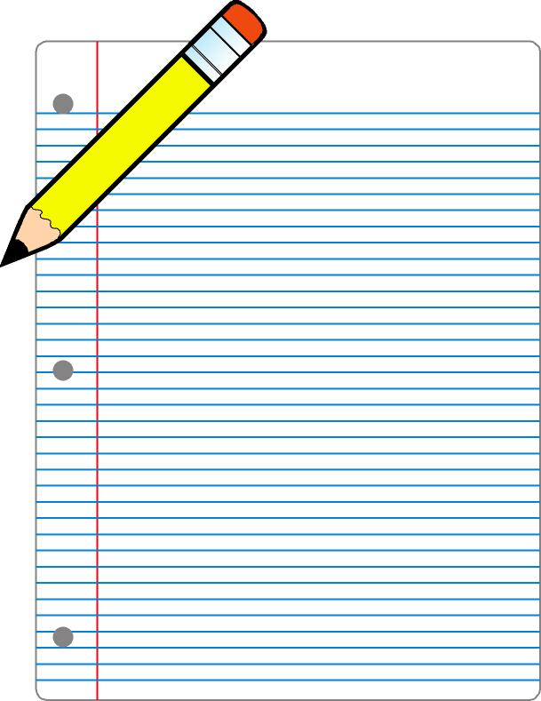 Free on paper download. Clipart writing writing page