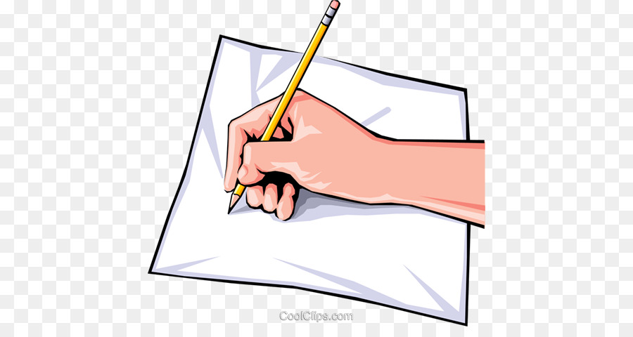 Writing cartoon paper hand. Writer clipart writ