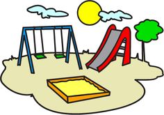 Play playground swings ride. Park clipart