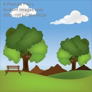Clip art illustration of. Clipart park
