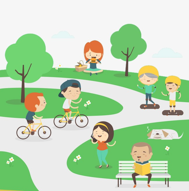 Play greenery cartoon png. Clipart park