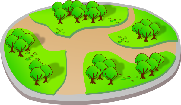 Trail clipart nature trail. Park with trails clip